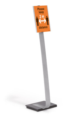 Durable podni stalak s obavijesti o mjeri zaštite