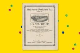 Karijera školskog brenda Asortiman Noris vrlo se rano etablirao kao školski brand. Ilustrirani cjenik iz arhive pokazuje da je Staedtler već 1919. godine nudio 37 različitih pastelnih kreda i olovaka. Pedesetih i šezdesetih godina dodani su i drugi školski proizvodi, poput flomastera, kemijskih olovaka i vježbenica, a od tada ponuda samo raste.